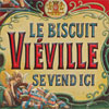 French tin sign: Le Biscuit Viéville, c. 1910