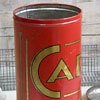 Large 1920s French coffee storage tin printed Café