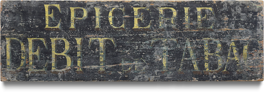 19th-century antique French wooden shop sign: Epicerie