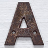 Victorian cast-iron sign letter 'A', 10cm