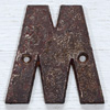 Victorian cast-iron sign letter 'M' or 'W', 10cm
