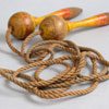 1920s skipping rope with painted handles