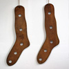 Pair of 1920s wooden sock stretchers
