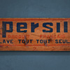 Early-1900s wooden advertising panel: Persil