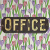 Victorian painted brass door sign: Office