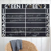 Large metal sports score chalkboard