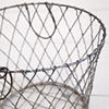 French wirework fruit basket with swing handles, c. 1900