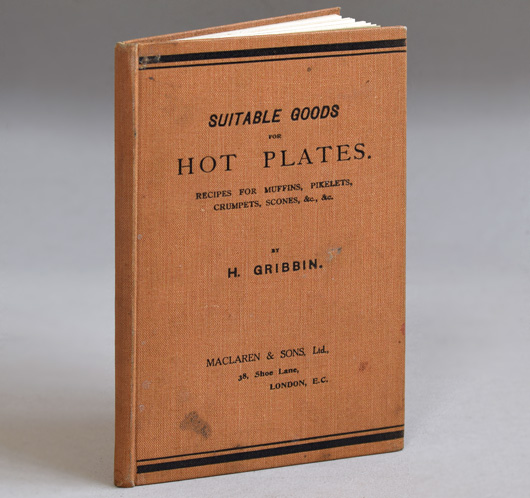 Suitable Goods For Hot Plates, c. 1900 antique hardcover