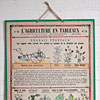 French agriculture wall chart: Vegetable Fertilisers