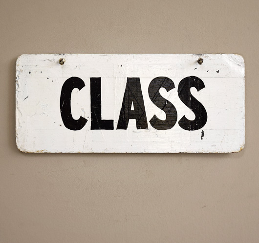 Painted vintage metal livestock show sign: Class