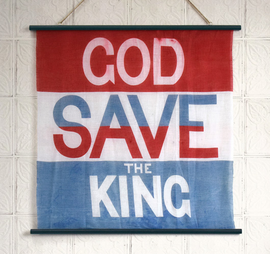 God Save The King flag wall hanging, c. 1936