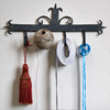 Painted antique forged iron wall hooks