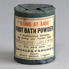 Sealed antique foot bath powder tin