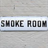 Victorian enamel door sign: Smoke Room