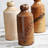 Stoneware ginger beer bottle: H. Merry, c. 1900