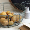 Large French wirework basket with handles