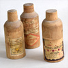 Trio of French wooden medicine bottle cases