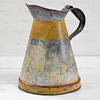 Large distressed metal fuel jug, mid-1900s