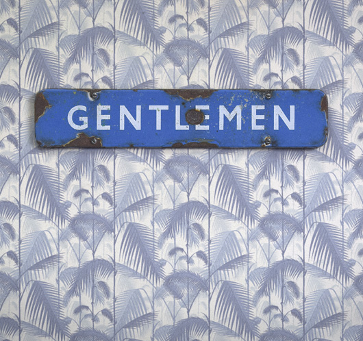 British Railways blue enamel sign: Gentlemen