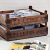 Large wooden produce delivery crate