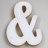 Plywood and white perspex ampersand symbol