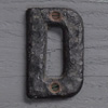 Small antique iron sign letter 'D'