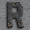 Small antique iron sign letter 'R'