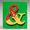 Painted wooden sign letter plaque: &