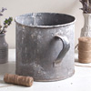 Labourer's zinc tub or bucket planter with carry handles