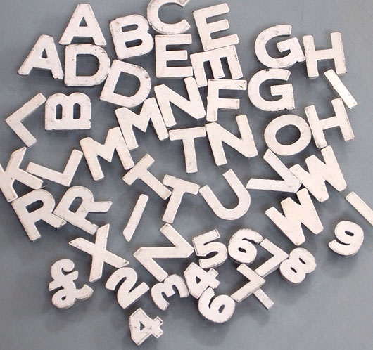the vintage walltm batch of magnetic white store display With white magnetic letters