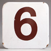 Ex-Heygate council estate enamel lift sign number '6'