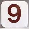 Ex-Heygate council estate enamel lift sign number '9'