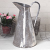 Conical zinc water jug with paint streaks, early 1900s