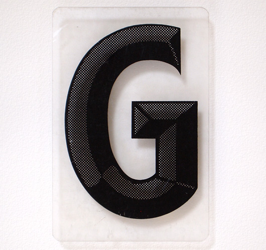 Vintage perspex theatre display sign letter 'G'