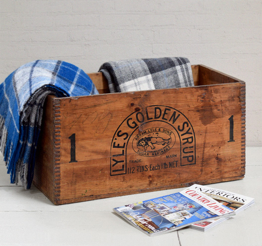 Extra-large vintage packing crate: Lyle's Golden Syrup, c. 1900