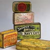 Group of advertising tins, c. 1900 (5)