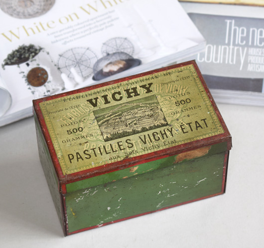 Antique French confectionery tin: Vichy Pastilles, c. 1900