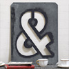 Large antique signwriter's zinc ampersand stencil