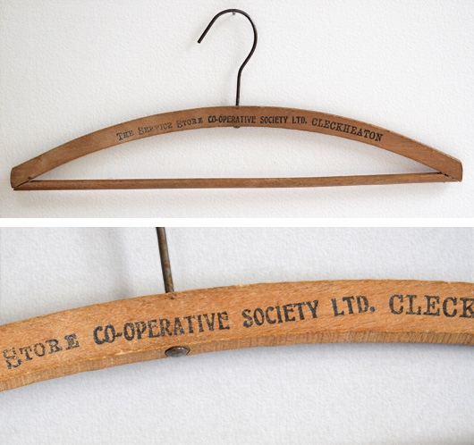 Early-1900s vintage advertising coat hanger: The Service Store, Cleckheaton
