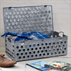 Perforated metal storage chest