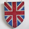 Victorian decorative wooden shield: Union Jack