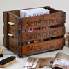 Mid-1900s Schweppes bottle crate