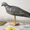 Mounted antique decoy wood pigeon