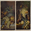 Pair of 19th-century fruit still life paintings