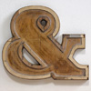 Mid-1900s wooden letter mould: Ampersand