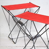 Pair of folding canvas and metal stools