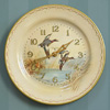 1940s Smiths tin plate wall clock: Mallards