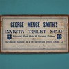 Victorian wooden advertising panel: Toilet Soap