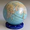 1950s tin globe money box, Chad Valley