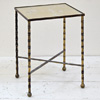 Victorian brass side table with mirror top